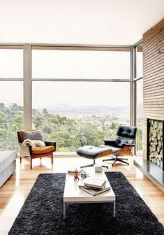 A chair like the Eames Lounge Chair, deserves this view!