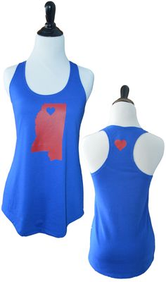 "Ole Miss State Tank - www.TailgateQueen.com - for an ""around the house tank"" down here in Fla, but love this! heart in Oxford :)"