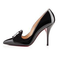 QUEUE DE PIE PATENT/VEAU VEL 100 mm, BLACK , Suede, Women Shoes