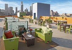 Union Rescue Mission Rooftop Outdoor Furniture Sets, Outdoor Decor, Rooftop, Interior Design, Architecture, Home Decor, Nest Design, Arquitetura, Decoration Home
