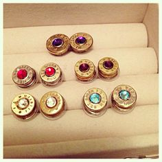 Bullet earrings- Want in every color!!