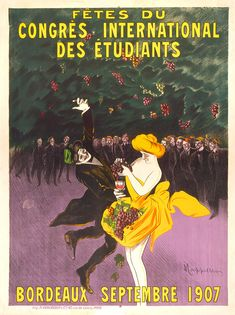 Buy online, view images and see past prices for Congrès International des Étudiants. Invaluable is the world's largest marketplace for art, antiques, and collectibles. Vintage French Posters, Vintage Advertising Posters, Vintage Advertisements, French Vintage, Bordeaux, All Poster, Poster Prints, Art Nouveau, Alphonse Mucha