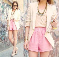Trashy shorts and jacket, toning it down | I love shorts | Pinterest