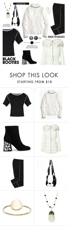 """Minimalism"" by taci42 ❤ liked on Polyvore featuring J.Crew, Kenneth Cole, Miss Selfridge, Simply Vera, blackandwhite, booties, minimalism, basics and independantSet"