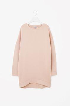 COS image 2 of Boxy sweatshirt dress in Peach