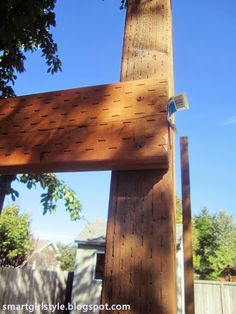 Building an elevated kids' clubhouse, part 1. #treehouse #DIY #backyard