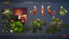 Some  stuff I did for Ivern :) I would like to give credit to  Julio Diaz for let me use all the elements from Ivern's Website . Also Chris Campbell and Moby Francke for all the work we did together to design this dude :) Hope you like Ivern and enjoy him as much as we did working on him.  Ivern - The Green Father - League of Legends  © Riot Games 2016