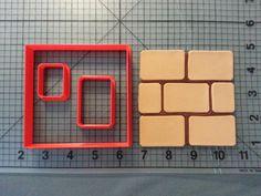 Super Mario  Blocks Cookie Cutter Set by JBCookieCutters on Etsy, $5.50