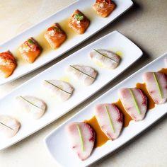 Dreaming of @sushisamba  Salmon kanpachi & yellowtail tiradito nbd  #apronsquad by hedleyandbennett