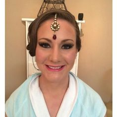 Ready for her Indian prince and their fabulous wedding! #bride #wedding #hair #hairandmakeupdesign #updo #beautiful