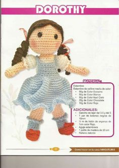 Best 8 Muñeca a crochet – SkillOfKing. Crochet Dolls Free Patterns, Crochet Doll Pattern, Crochet Chart, Doll Patterns, Yarn Dolls, Knitted Dolls, Fabric Dolls, Crochet Teddy, Crochet Toys