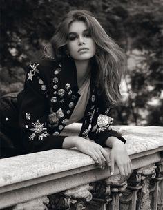 Kaia Gerber Poses for Vogue UK October 2017