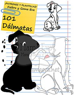 Plantillas Películas Disney 101 Dálmatas