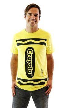 Crayola Crayon Adult Costume T-shirt  sc 1 st  Pinterest & How to Make a Crayon Costume - *Crayon Costume DIY | One Crazy Mom ...