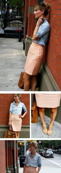 ginham skirt