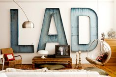 A Typographic Home by victoriasmith for Julep
