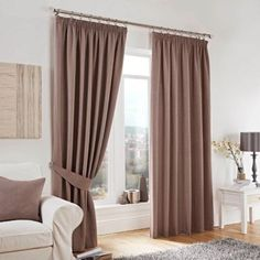 Curtina Lincoln Taupe Lined Pencil Pleat Curtains- at Debenhams.com