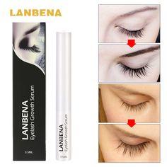 LANBENA Wimpern Wachstum Serum 7 Tag Wimpern Enhancer Mehr Vollere Dicker Wimpern Wimpern und Augenbrauen Enhancer Augen Make-Up