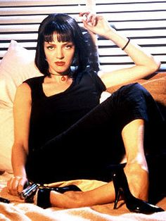 Uma Thurman as Mrs. Mia Wallace in pulp fiction