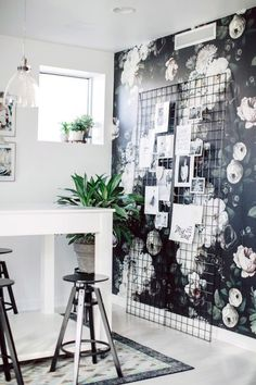 Black and White and Floral All Over