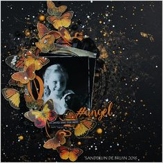Live. Laugh. Love.: Mixed media layout 'Angel' (with video tutorial)