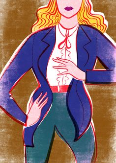 A fashion illustration by Sarah Tanat-Jones. Showing at the David Simon Contemporary in Bath, as part of Bath Fashion Week 2015 #fashion #illustration #lesmoking #tux #androgynous