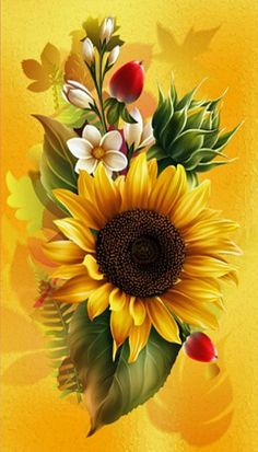 When we approached the Flores & Prats firm, we needed to target on their accurate Sunflower Pictures, Sunflower Art, Pictures Of Flowers, Graffiti Kunst, Beautiful Flowers Wallpapers, Sunflower Wallpaper, Arte Floral, Fractal Art, Pretty Flowers