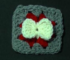 Crochet Bow Granny Square « The Yarn Box The Yarn Box