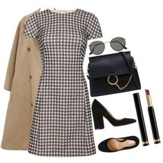 Untitled #1159 by poshandy on Polyvore featuring mode, Hermès, Gianvito Rossi, Chloé, Ray-Ban, Gucci, Antipodium and modern