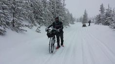 A chilling account of Jay Petervary's Fat Pursuit 200k fat bike race in West Yellowstone.