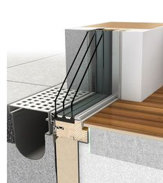 Internorm HX300 Panorama, großflächige Verglasungen, Einbausituation