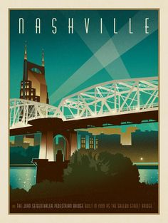 Nashville Skyline: Pedestrian Bridge