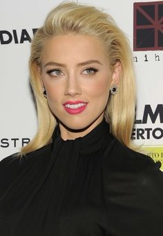 Amber Heard is perfection in a pink lip
