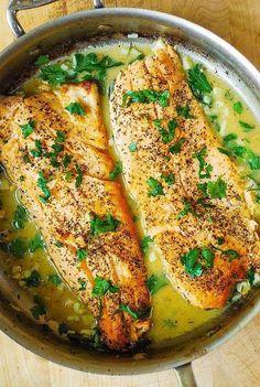 13 Healthy Fish Recipes That Are Packed With Flavor 13 gesunde Fischrezepte mit viel Geschmack Fish Dinner, Seafood Dinner, Easy Fish Recipes, Seafood Recipes, Free Recipes, Fish Recipes Trout, Corvina Fish Recipes, Grouper Recipes, Fresh Fish Recipes