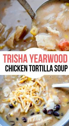 The most comforting Fall Soup is my favorite Chicken Tortilla. Trisha Yearwood has one of one best recipes for this! The most comforting Fall Soup is my favorite Chicken Tortilla. Trisha Yearwood has one of one best recipes for this! Easy Soup Recipes, Crockpot Recipes, Chicken Recipes, Cooking Recipes, Chicken Soups, Corn Chicken, Tso Chicken, Mexican Chicken, Milk Recipes
