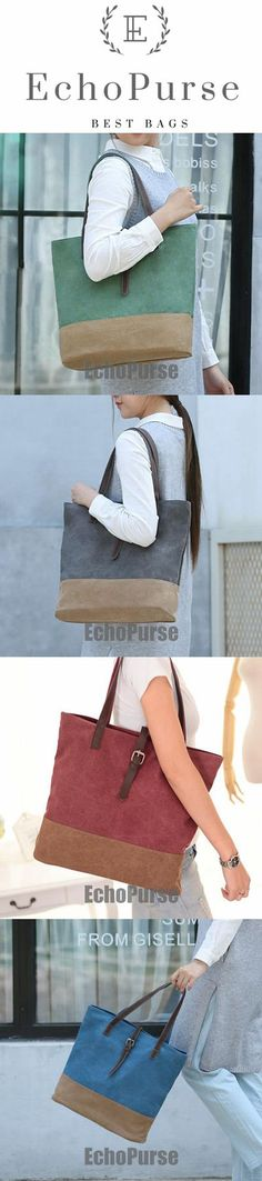 Women Canvas Tote Bag, Diaper Bag, Casual Canvas Bag, Shoulder Bag In Red MD01