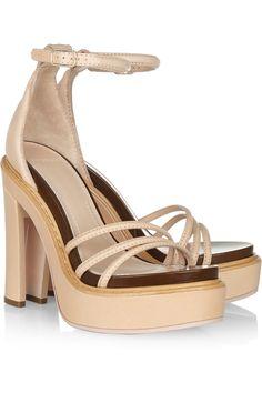 Givenchy Leather Platform Sandals in Beige (sand) | Lyst