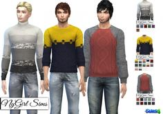 Fall Fashion Sweaters at NyGirl Sims via Sims 4 Updates