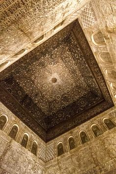 The Alhambra - Granada, Spain - Night Spanish Architecture, Islamic Architecture, Beautiful Architecture, Architecture Details, Granada Andalucia, Granada Spain, Malaga, Alhambra Spain, Spain And Portugal