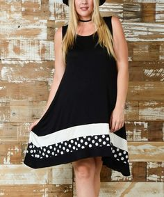Look at this #zulilyfind! Black Color Block Sleeveless Dress - Plus #zulilyfinds