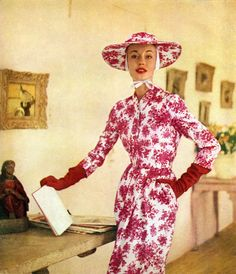 Harper's Bazaar April 1955, photo by Richard Avedon