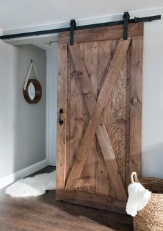 Pin by erin gates on my work basement basement renovations doors barn style doors . Basement Renovations, Farmhouse Decor, Rustic Barn Door, Basement Decor, Remodel, Rustic Barn, Home Remodeling, Doors, Rustic House