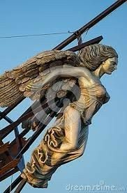 Picture of Wooden Figurehead on the broken ship stock photo, images and stock photography. Pirate Art, Pirate Ships, Ship Figurehead, Bateau Pirate, Old Sailing Ships, Wooden Ship, Mermaid Art, Ship Art, Tall Ships