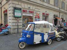 bici en baci vespa shop rome