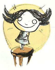Ilustración de Isol para su obra Secreto de familia.