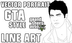 Tutorial Vector Art Portrait - Line art | GTA5 Style Part1 (Using Ai cc2...