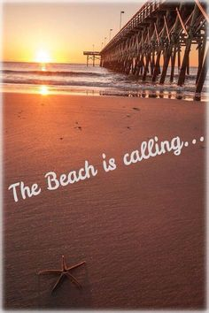The beach is calling...........long distance, but calling.