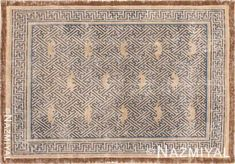 Picture of Antique century Chinese Ninghsia Rug History Of The Swastika, Aubusson Rugs, Jewel Tone Colors, Square Rugs, Art And Craft Design, Types Of Carpet, Indigenous Art, Antique Art, Persian Rug