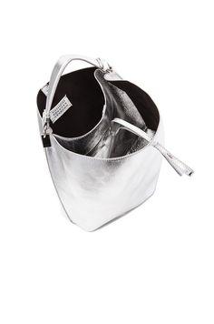 MAISON MARGIELA LAMINATED LEATHER BUCKET BAG