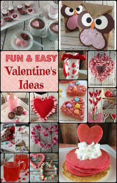 Fun and easy Valentines Day Ideas for the whole family! Heart crafts, DIY valentines, snacks and crafts! #ValentinesDaywithkids #ValentinesDay